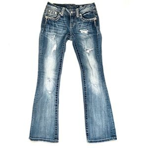 Miss Me Embellished Distressed Boot Cut Jeans